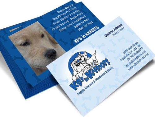 K9nkahoots business cards