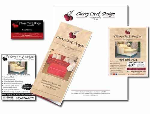 Cherry Creek Design branding material