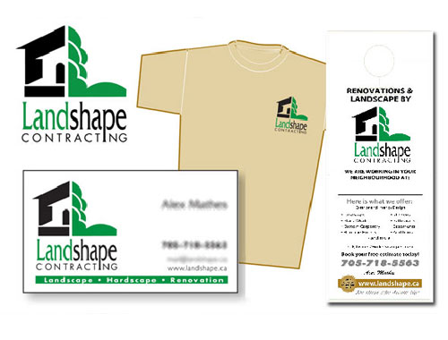 Landshape Contracting print material and advertising