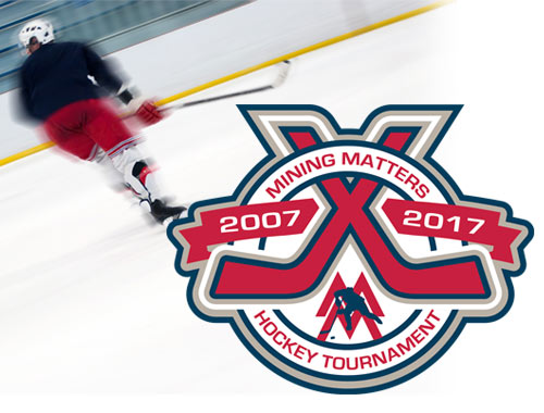 Mining Matters 10th Anniversary Hockey Tournament promotional material